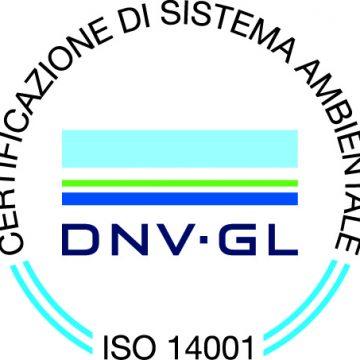 Certificazione Ambientale ISO 14001 per l'anno 2016