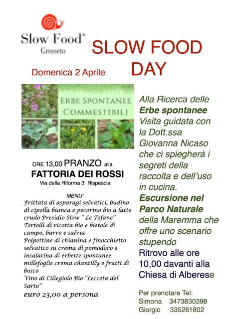 2 Aprile: Slow Food Day