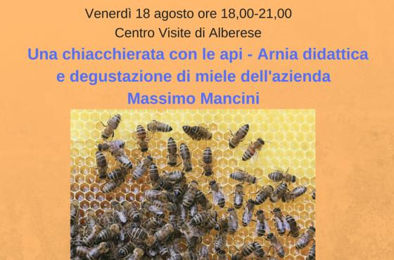 Evento Chiacchierata con le api rimandato al 25 agosto