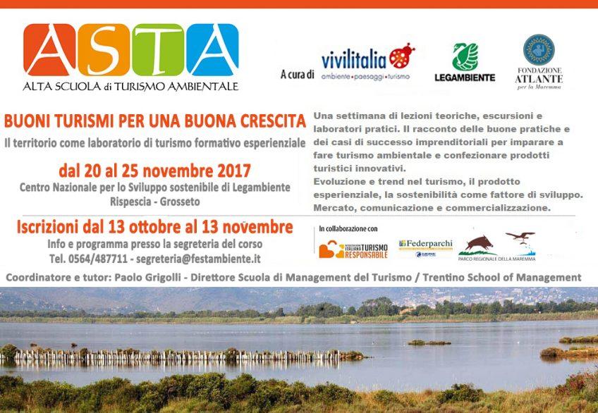 Dal 20 al 25 novembre: corso di alta formazione sul turismo ambientale