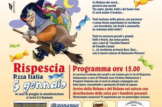 Il 5 gennaio arriva la Befana a Rispescia