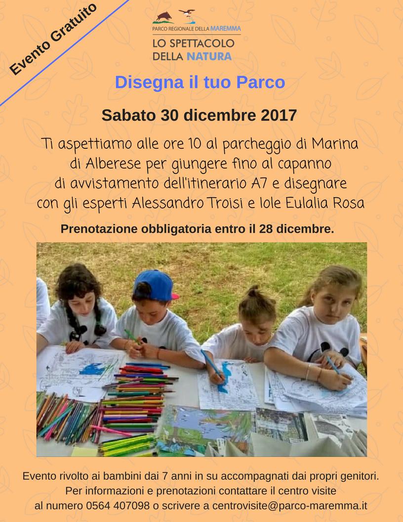 Parco della Maremma: disegna il tuo parco sabato 30 dicembre