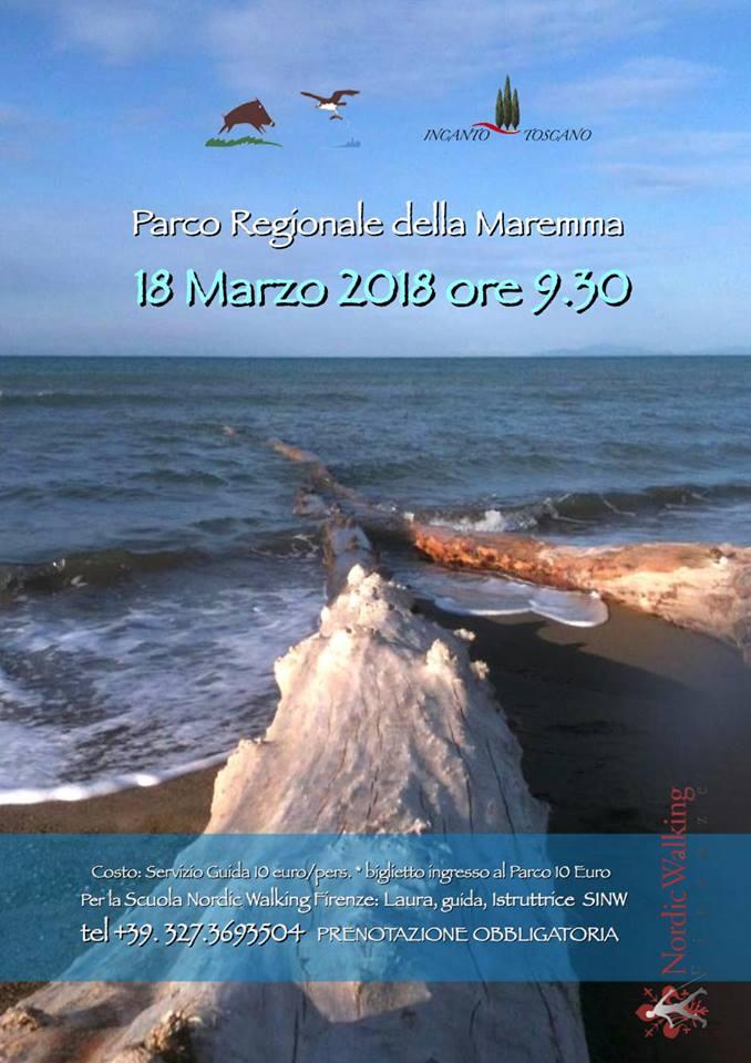 Save the date: domenica 18 marzo Nordic Walking al Parco della Maremma
