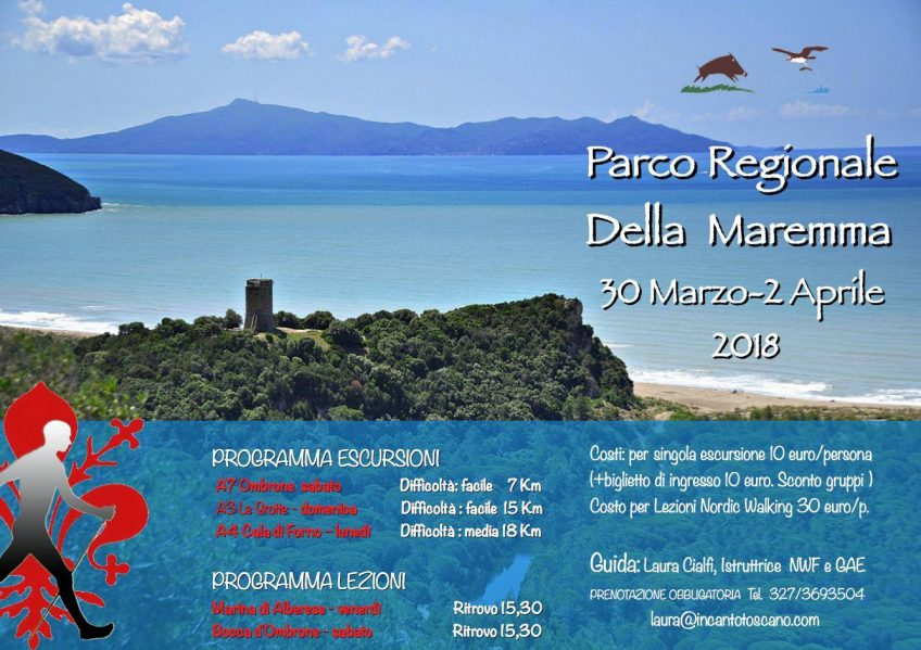 Parco della Maremma: the next Nordic Walking events