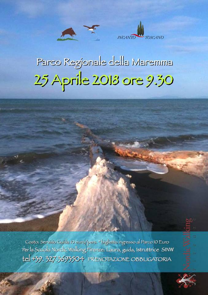 April 25: Nordic Walking at the Maremma Park