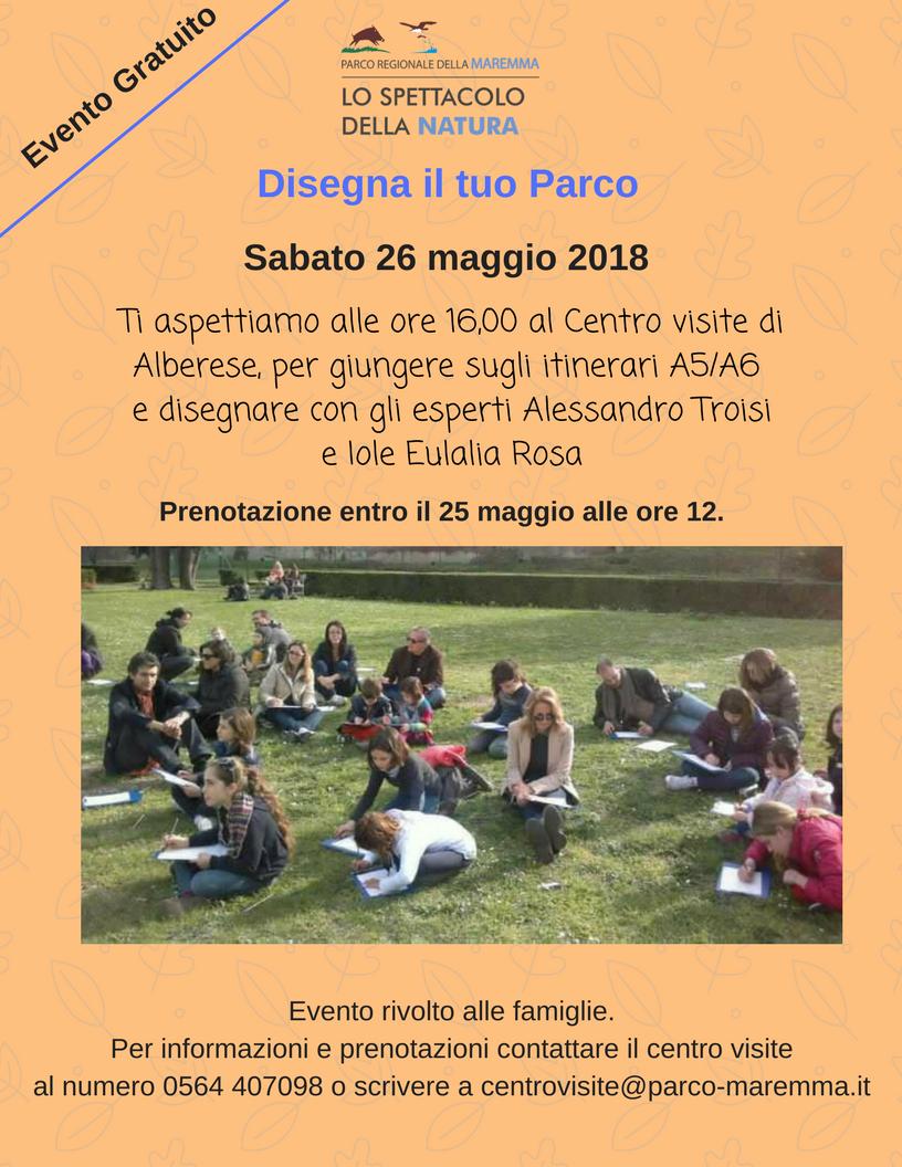 Parco della Maremma: sabato 26 maggio Disegna il tuo Parco!
