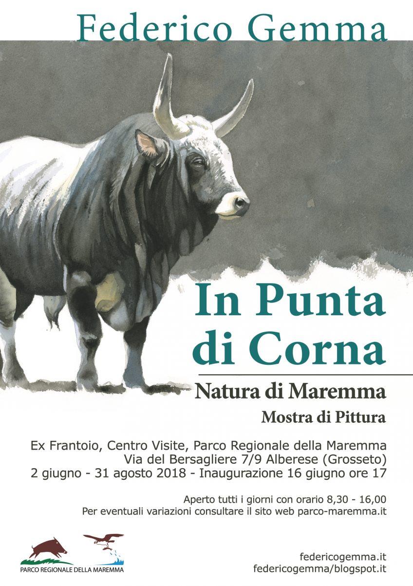 """""""In Punta di Corna"""": inaugurazione mostra di Federico Gemma al Parco della Maremma"""