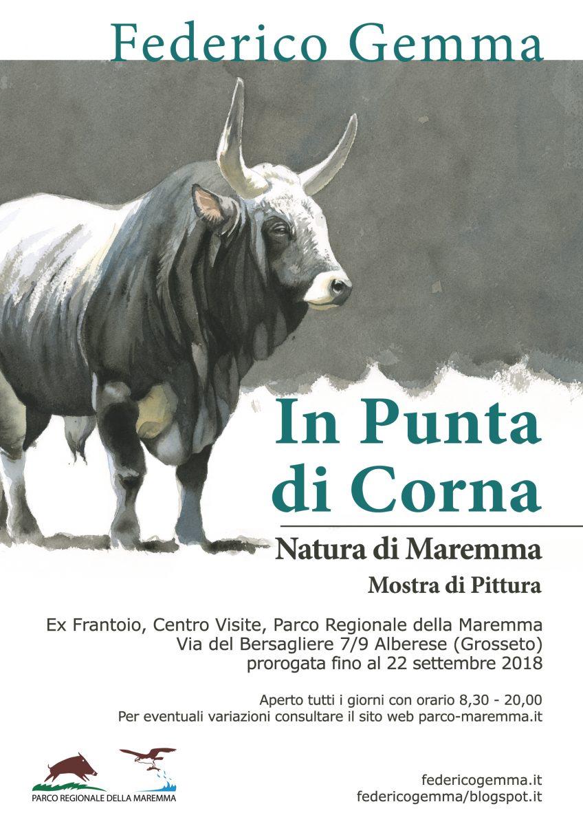 """Grande successo per """"In Punta di Corna"""": prorogata la mostra di Gemma al Parco della Maremma"""