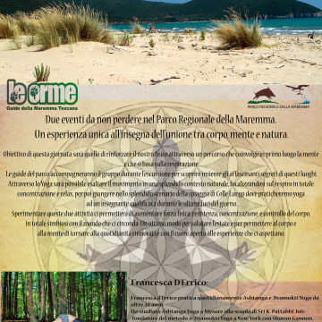 Trek and yoga in Collelungo in the Maremma Park