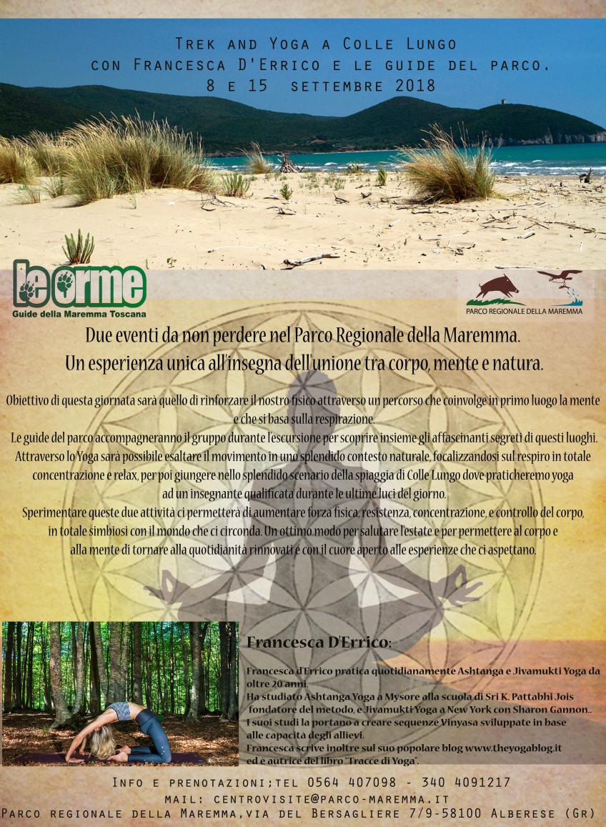 Trek e yoga a Collelungo nel Parco della Maremma