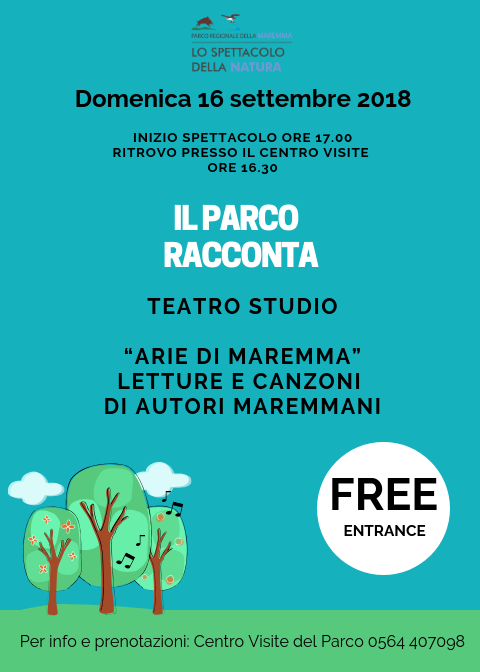 "The Park tells: Sunday 16 September ""Arias of Maremma"""
