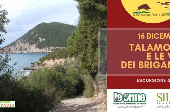 16 dicembre: Talamone e le vie dei Briganti al Parco della Maremma