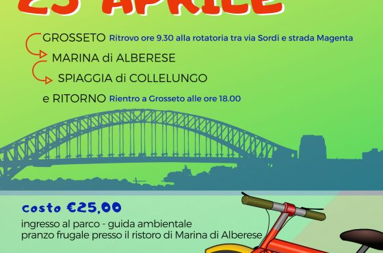 April 25th by bike from Grosseto to the Maremma Park