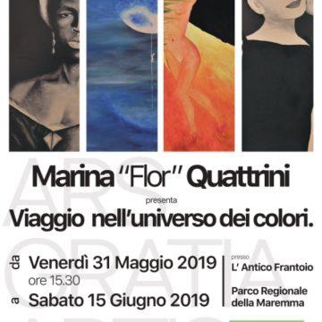 """""""Viaggio nell'Universo dei Colori"""": Marina Quattrini espone all'Antico Frantoio del Parco della Maremma"""