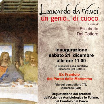 """Al Parco della Maremma arriva la mostra """"Leonardo da Vinci un genio…di cuoco"""""""