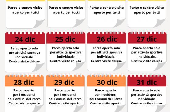 Informazioni sulle modalità di visita al Parco della Maremma per il periodo natalizio