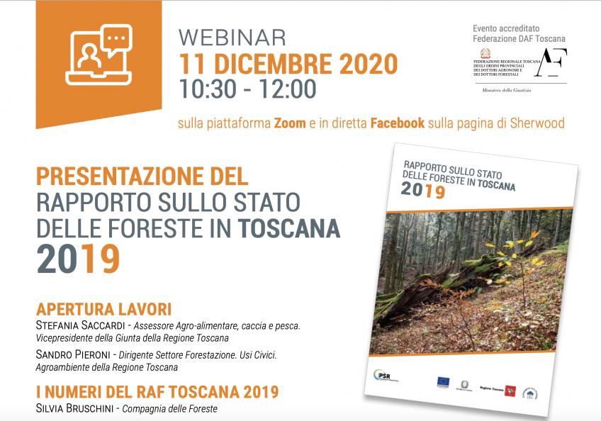 11 dicembre: Presentazione del Rapporto sullo stato delle foreste in Toscana